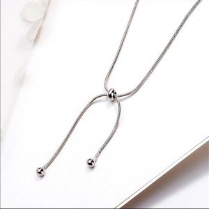 Jewelry - Sterling Silver 925 Adjustable Necklace Choker